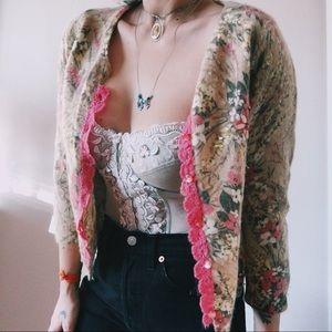 Betsey Johnson floral cardigan